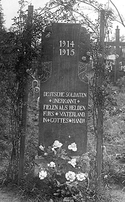 Battlefield grave of unknown German soldiers.