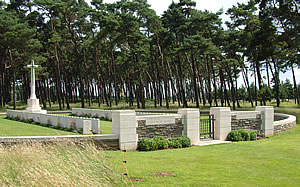 Givenchy Road Cemetery in the Canadian National Vimy Memorial Park on the French Flanders and Artois battlefield.