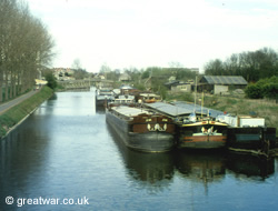 Barges on the canal at La Bassee.
