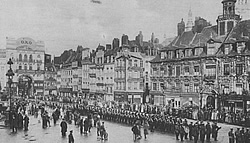 German troops parading in Lille.