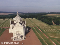 Ablain St-Nazaire (Notre Dame de Lorette) French cemetery on the Artois battlefield.