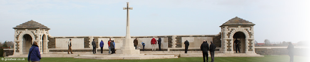 Visitors at VC Corner Cemetery, French Flanders.