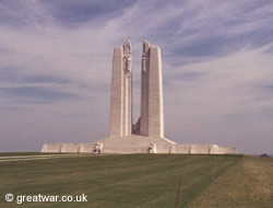 Canadian National Vimy Memorial, Vimy Memorial Park, near Arras.