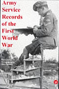Cover of Army Service Records of the First World War by Simon Fowler