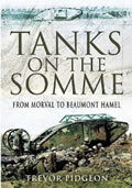 Cover of Tanks on the Somme by Trevor Pidgeon