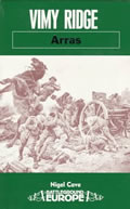 Cover of Vimy Ridge - Arras guidebook