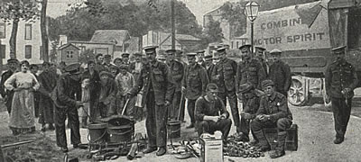 British soldiers in Senlis, September 1914
