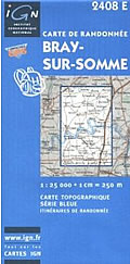 Image of IGN Series Bleu Map 2408 E ~ Bray-sur-Somme