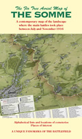 Cover of the aerial hand-painted Somme 1916 map