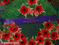 Canadian poppy wreath at the Menin Gate Memorial, Ypres, November 2005