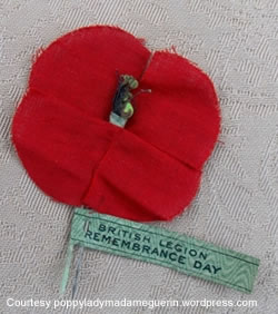 1921 poppy for the Haig Fund