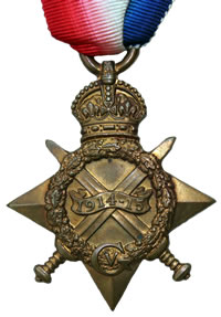 The front of the 1914-15 Star medal (Pip)
