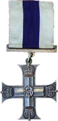 Front of the Military Cross awarded to Lt E A Mackintosh.