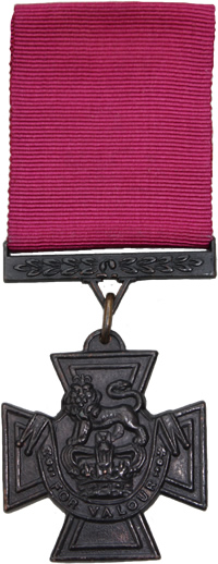 The Victoria Cross, the highest award for valour in the British Army.