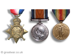1914 Star, British War Medal, Victory Medal