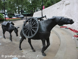 Animals in War Memorial, London