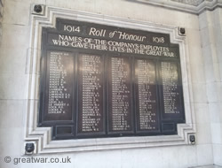 Roll of Honour Waterloo Station