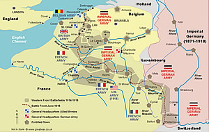Western Front map.