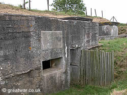 German bunker near the village of Zandvoorde south-east of Ypres.