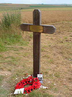 Cross marking the spot where 