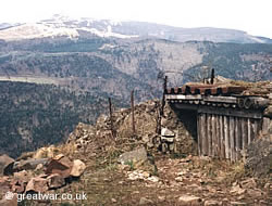 French outpost on the Hartmannswillerkopf in the Vosges.