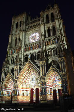 Son et Lumiere at Amiens Cathedral.