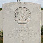 Grave of Australian casualty
