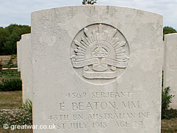 Grave of E Beaton, MM