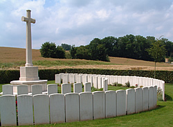 Gordon Cemetery near Mametz on the Somme battlefields.