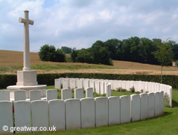 Gordon Cemetery on the Somme battlefield.