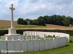Gordon Cemetery near Mametz on the Somme battlefield.