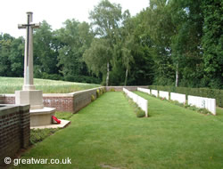 Devonshire Cemetery on the Somme battlefield.