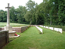 Devonshire Cemetery on the Somme battlefield near Mametz, France.