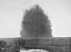 Explosion of the mine at Hawthorn Ridge at 07.20 hours on 1 July 1916.