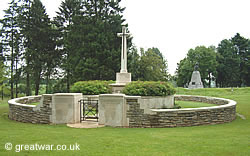 Hunter's Cemetery, near Beaumont-Hamel village on the Somme battlefields.