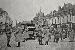 German Kaiser Wilhelm II in Bapaume, September 1914.