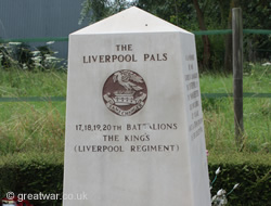 Liverpool and Manchester Pals Memorial, Montauban