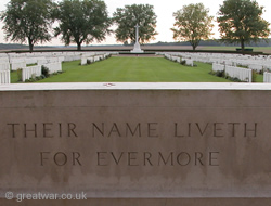 London Cemetery at Bois des Foureaux or High Wood, on the Circuit of Remembrance route, Somme battlefield, France.