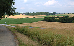 View towards the village of Mametz from Mansell Copse