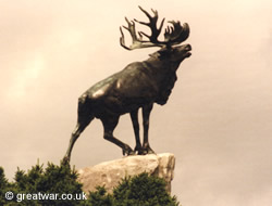 Caribou Memorial at Newfoundland Memorial Park