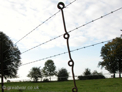 British picket post for barbed wire.