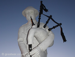 The Piper's Memorial at Longueval