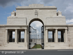 Pozieres Memorial to the Missing of the Somme Battles 1918.