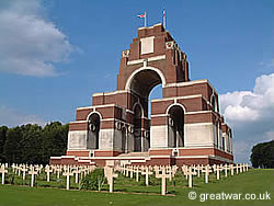 The Thiepval Memorial to the Missing, Somme battlefield, France