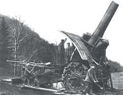 "German ""Big Bertha"" gun bombards Ypres"
