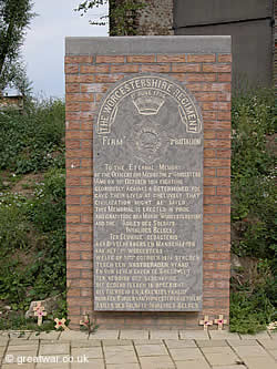 Monument to 2nd Battalion the Worcesters in Gheluvelt.