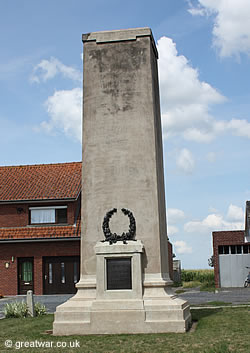 Monument to 20th Light Division on the Ypres Salient battlefield.