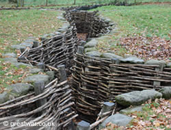German trenches at Bayernwald.