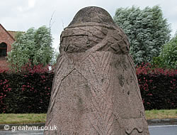 Demarcation Stone monument at Zillebeke, south-east of Ypres.