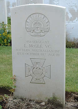 Grave of Sergeant McGee, VC.